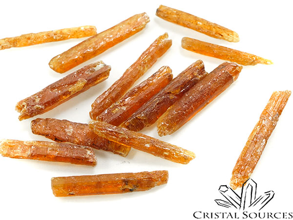 Cyanite orange, cristal brut